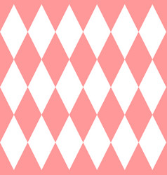 checkered tile pattern or pink and white wallpaper vector image