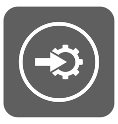 Cog integration flat squared icon vector
