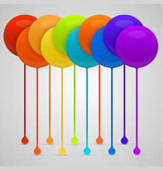 Colored paint drips background vector
