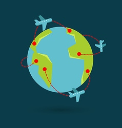 earth travel vector image vector image