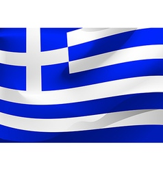 Greece flag in the wind vector