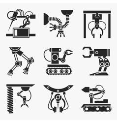 Industrial robot set vector image