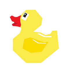 isolated geometric rubber duck vector image vector image