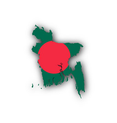 Map and flag of bangladesh vector