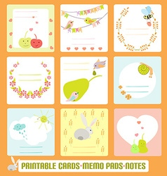 Memo Set4 vector image