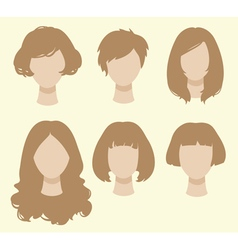 Set of female hairstyles vector