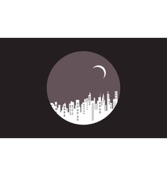 Silhouette of city icon design vector