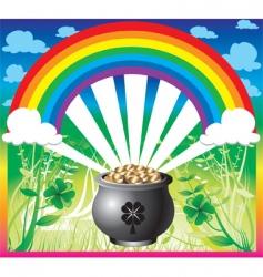 st patricks day rainbow vector image