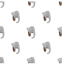 stuffed elephant headafrican safari single icon vector image vector image