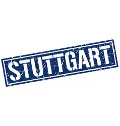 Stuttgart blue square stamp vector