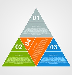 Triangular infographic design element vector