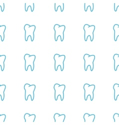 Unique Tooth seamless pattern vector image vector image
