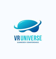 virtual reality universe abstract icon vector image vector image