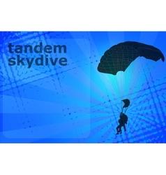 Skydiving tandem vector