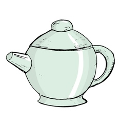 China teapot vector