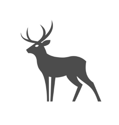 Monochrome deer with antlers for the vector