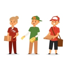 Logistics service and volunteer industry vector