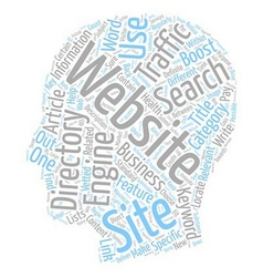 Boost traffic to your website text background vector