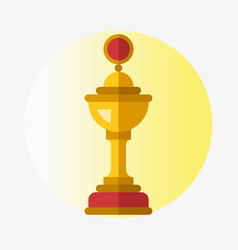 Trophy champion cup flat icon winner gold vector