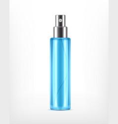 Realictic cosmetic spray bottle vector