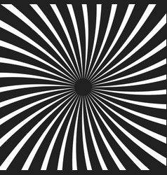 Black and white spiral ray background vector