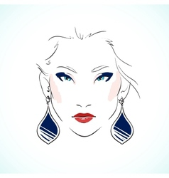 Elegant young model face vector