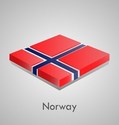 European flags set - norway vector