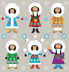 eskimos vector image