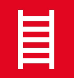 Ladder location safety sign vector