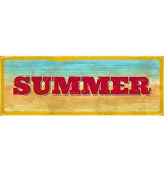 Vintage summer sign vector