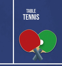 Two rackets for playing table tennis vector