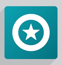 Flat star icon vector