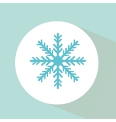 Snowflake isolated vector