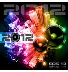 2012 new year celebration vector image