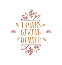 Thanksgiving dinner - typographic element vector