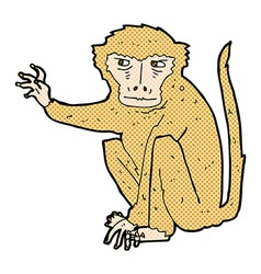 Comic cartoon evil monkey vector