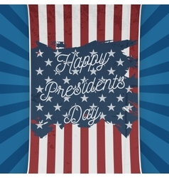 Usa national flag with happy presidents day text vector