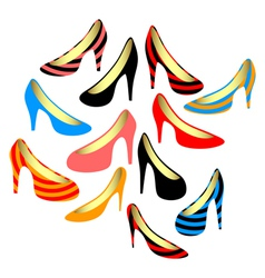 Womens shoes on a white background vector