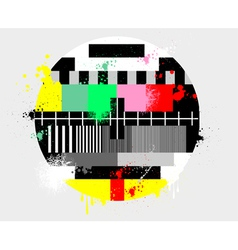 Color test for tv grunge style vector