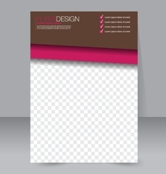 Flyer design background brochure template vector