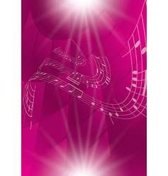 Abstract crimson music background vector