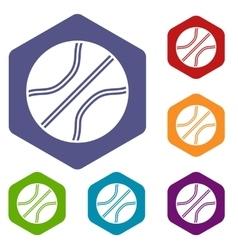 Basketball ball icons set vector