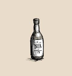 beer bottle oktoberfest festival holiday vector image vector image