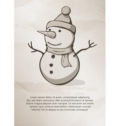 Christmas snowman Vintage Label Logo Frame vector image vector image