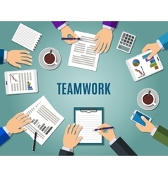Concept of teamwork vector image vector image