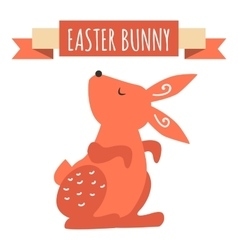 Easter bunny cute style vector image vector image