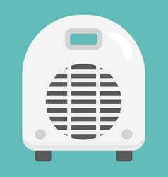 electric fan heater flat icon household appliance vector image vector image