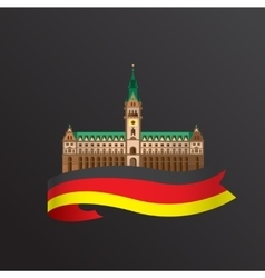 flat icon of German Hamburg City Hall vector image
