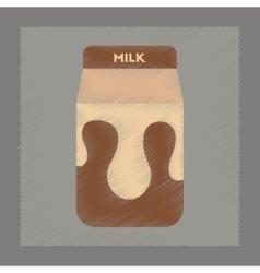 flat shading style icon carton of milk vector image