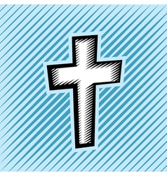 Hatched Cross vector image vector image